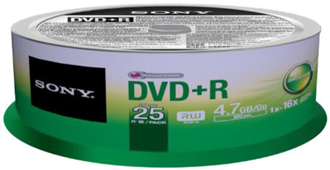 Sony DVD+R 4,7GB 16x Spindle, 25ks