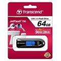 Transcend JetFlash 790 64GB, černo-modrá