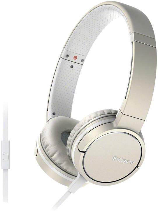 Sony sluchátka MDR-ZX660AP, champagne