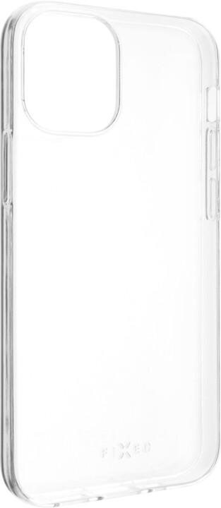 FIXED ultratenké TPU gelové pouzdro Skin pro Apple iPhone 12 mini, 0.6 mm, čirá