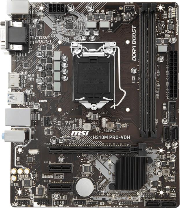 MSI H310M PRO-VDH - Intel H310