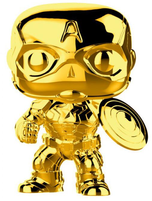 Funko POP! Marvel - Captain America, chrome