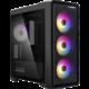 Zalman M3 Plus RGB, průhledná bočnice, černá