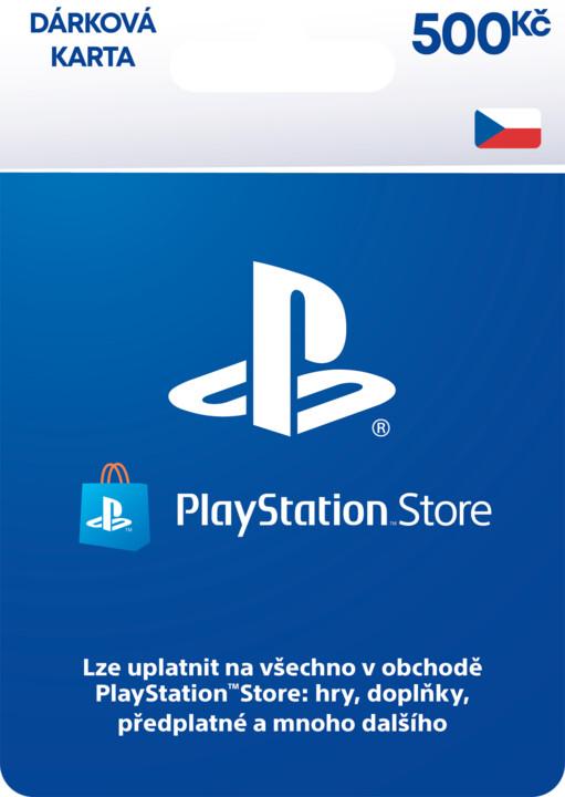PlayStation Store - Dárková karta 500 Kč