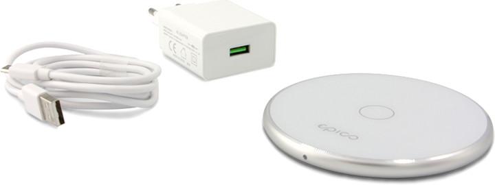EPICO WIRELESS CHARGER s adaptérem 10W/7.5W/5W - bílá