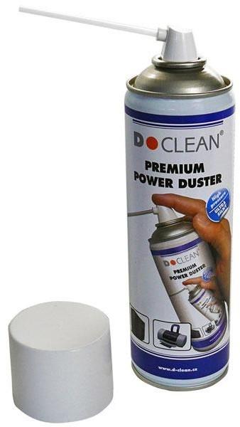 D-Clean Premium POWER DUSTER Čistící ultra silný hořlavý stlačený plyn - 400ml