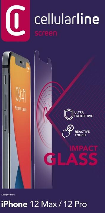 Cellularline ochranné tvrzené sklo Second Glass Ultra pro iPhone 12/12 Pro