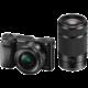 Sony Alpha 6000 + 16-50mm + 55-210mm, černá