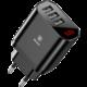 Baseus cestovní nabíječka Mirror Lake 3 USB 3.4A (EU), černá