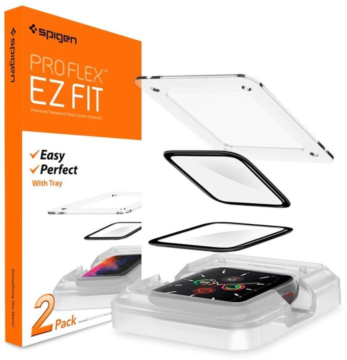 Spigen ochranné sklo Pro Flex EZ Fit pro Apple Watch 4/5, 40mm, 2ks