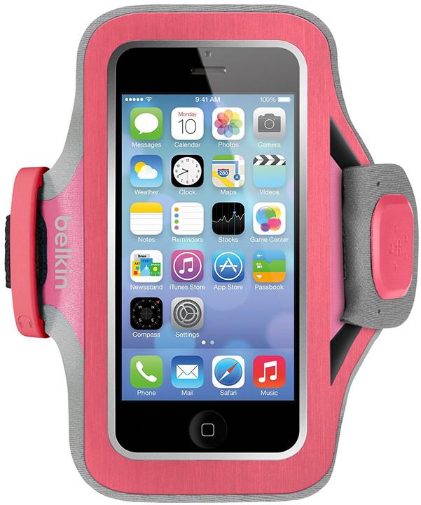 Belkin sportovní pouzdro Slim-Fit Plus pro iPhone 5/5s/5c/SE, růžové