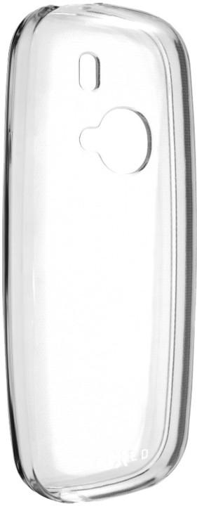 FIXED TPU gelové pouzdro pro Nokia 3310 (2017), bezbarvé