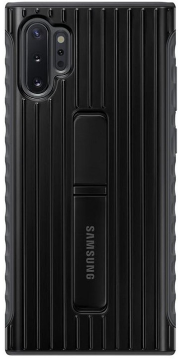 Samsung tvrzený ochranný zadní kryt se stojánkem pro Galaxy Note10+, černá
