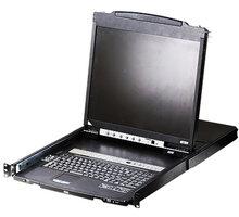 "ATEN CL5808N - 8-portový KVM switch USB, 19"" LCD, US klávesnice - CL5808N-ATA-2XK06A1G"