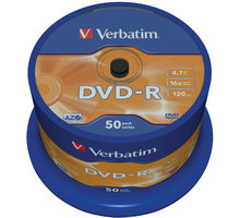 Verbatim DVD-R AZO 16x 4,7GB spindl 50ks 43548
