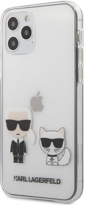 """KARL LAGERFELD ochranný kryt Karl &Choupette pro iPhone 12/ 12 Pro (6.1""""), TPU, transparentní"""
