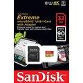 SanDisk Micro SDHC Extreme 32GB 90MB/s UHS-I U3 + SD adaptér