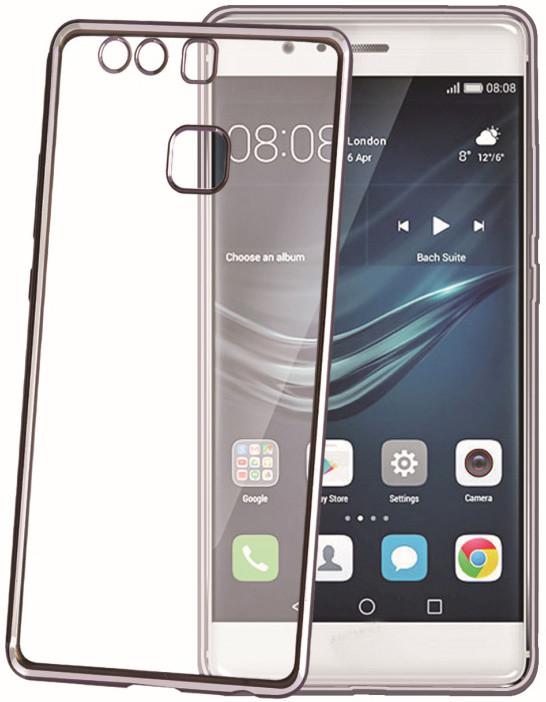 CELLY Laser - lemování s kovovým efektem TPU pouzdro pro Huawei P9, černá