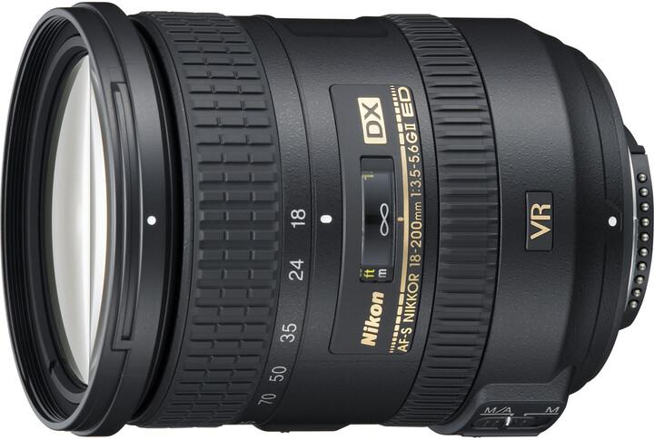 Nikon objektiv Nikkor 18-200mm F3.5-5.6G AF-S DX VR II