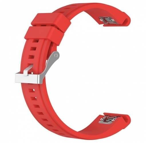 ESES silikonový řemínek pro Garmin Fenix 3/5X/5X Plus/5X Sapphire/3HR, červená