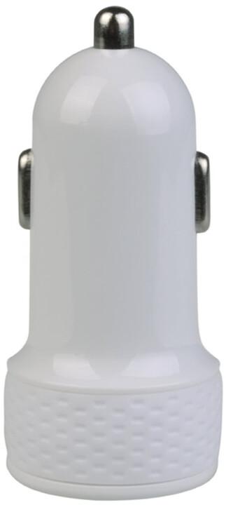 Avacom nabíječka do auta NACL-1XWW-10A s výstupem USB 5V/1A, bílá