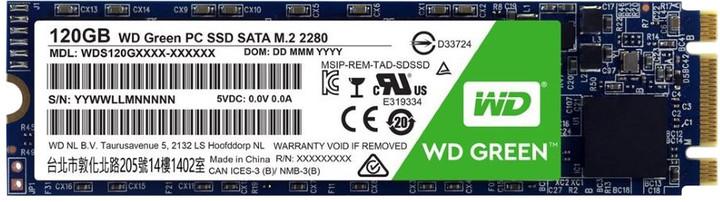 WD SSD Green 3D NAND, M2 2280 -120GB