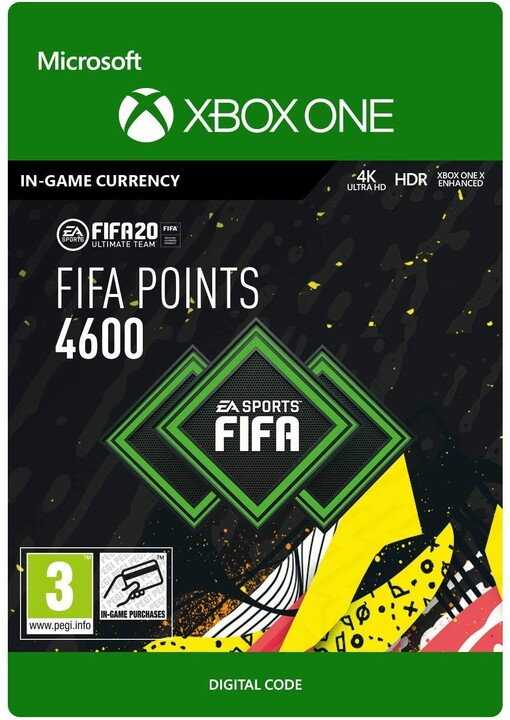 FIFA 20 - 4600 FUT Points (Xbox ONE) - elektronicky