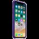 Apple silikonový kryt na iPhone X, tmavě fialová