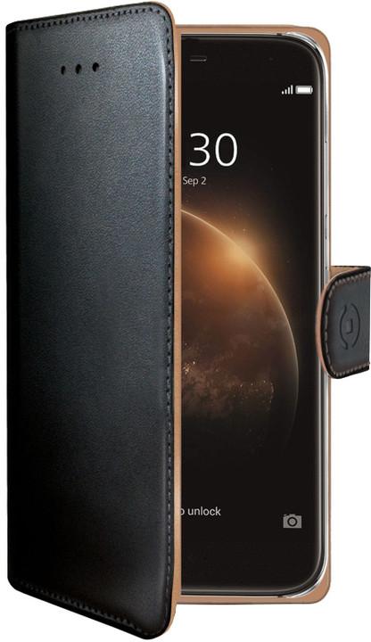 CELLY pouzdro Wally pro Huawei G8, PU kůže - černá