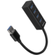 AXAGON MINI hub USB-A 3.2 Gen1 - 4xUSB-A, 5Gbit/s, OTG, 20cm, černá