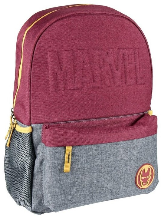 Batoh Avangers - Iron Man logo, vínovo šedý