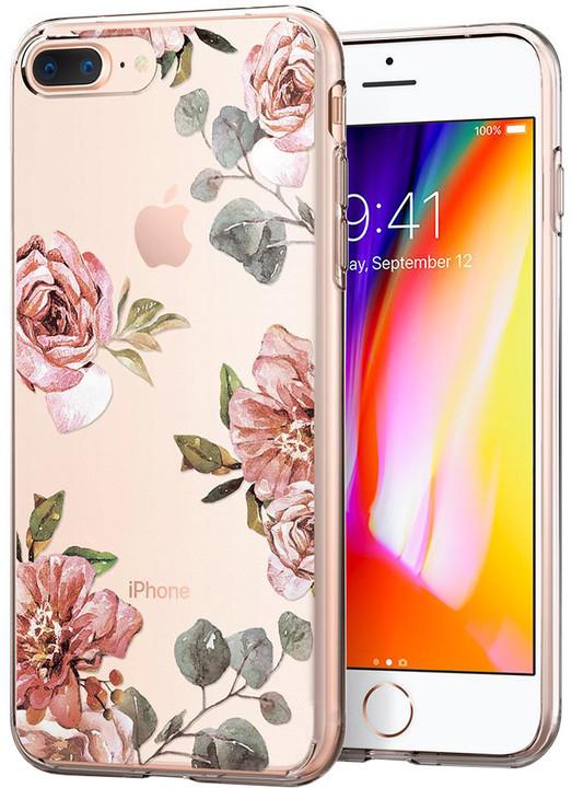 Spigen Liquid Crystal zadní kryt pro iPhone 7+/8+, aquarelle rose