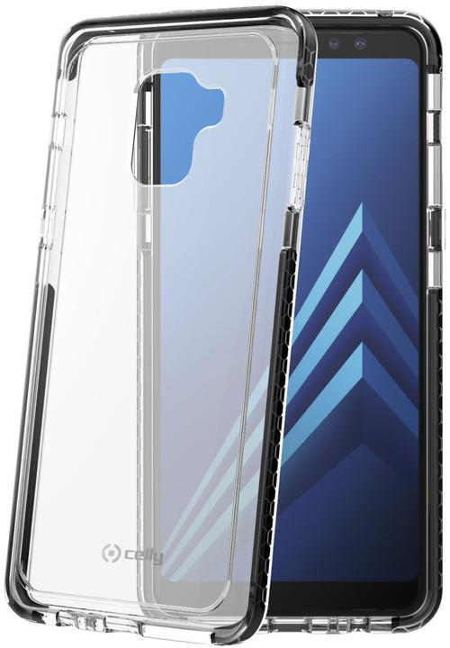 CELLY zadní kryt Hexagon pro Samsung Galaxy A8 Plus (2018), černý