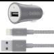Belkin USB nabíječka do auta 2,4A/5V MIXIT Metallic + Lightning kabel - šedá  + 300 Kč na Mall.cz