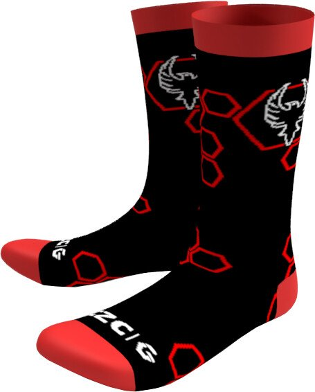 Ponožky CZC Gaming Phoenix, 42-45, černé/červené