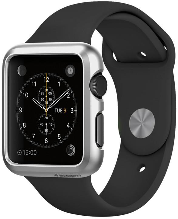 Spigen Thin Fit, satin silver- Apple Watch 42mm