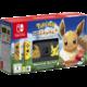 Nintendo Switch, černá/žlutá + Pokémon: Let's Go Eevee + Poké Ball