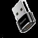 BASEUS adaptér USB-C - USB-A, F/M, černá