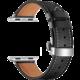 MAX kožený řemínek pro Apple Watch 4/5, 44mm, černá