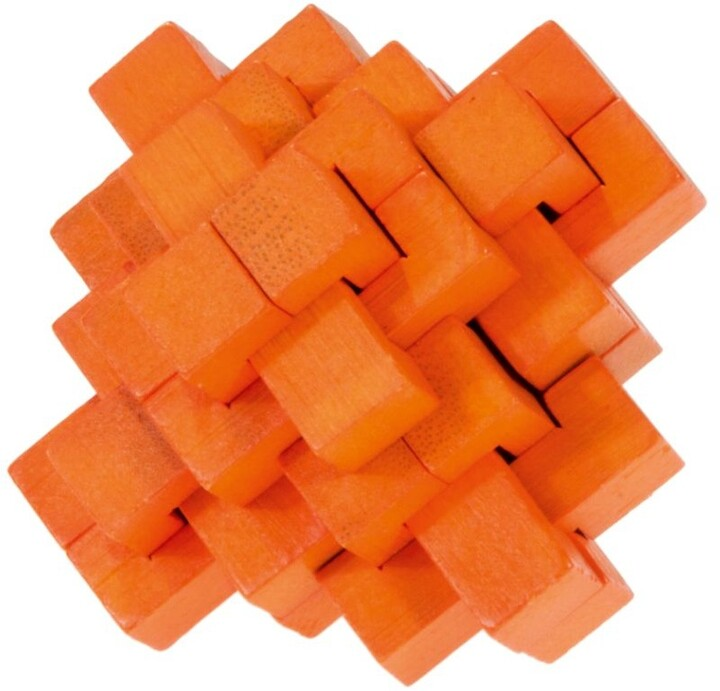 Hlavolam - IQ-test bamboo puzzle pine-apple, colour