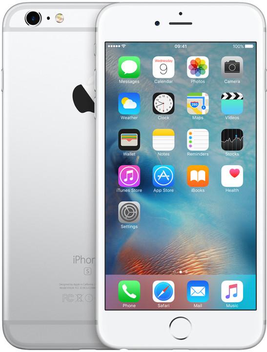 Apple iPhone 6s Plus 128GB, stříbrná