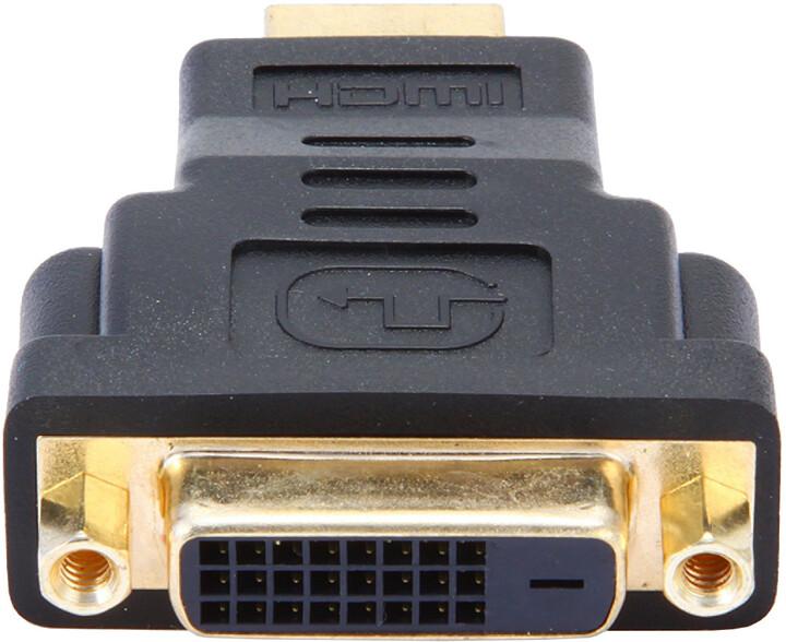 Gembird CABLEXPERT kabel HDMI na DVI, M/F, zlacené kontakty, černá