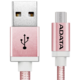 ADATA Micro USB kabel pletený, 1m, růžový