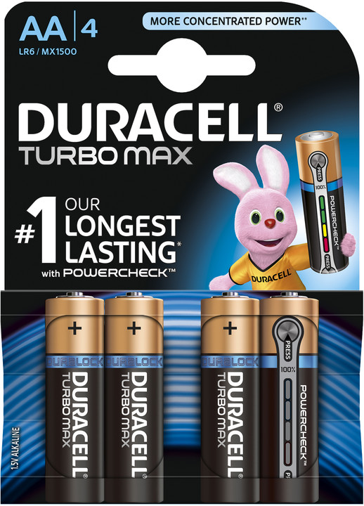 Duracell Turbo Max AA, 4ks
