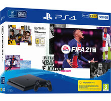 PlayStation 4 Slim, 500GB, černá + FIFA 21 + 2x DualShock 4 - PS719831129