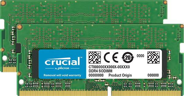 Crucial 32GB (2x16GB) DDR4 2666 SO-DIMM