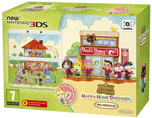 Nintendo New 3DS Animal Crossing HHD + Card Set
