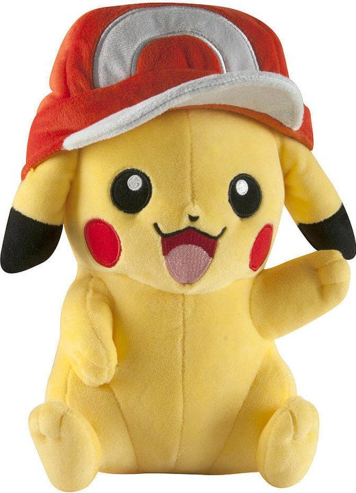 Plyšák Pokémon - Pikachu s čepicí