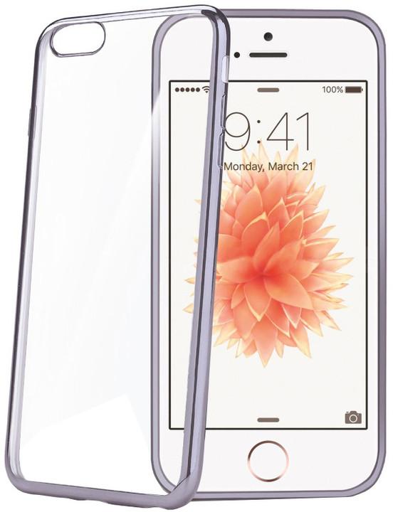 CELLY Laser pouzdro pro Apple iPhone SE, kovový efekt
