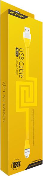 iMyMax Lovely Micro USB Cable, žlutá